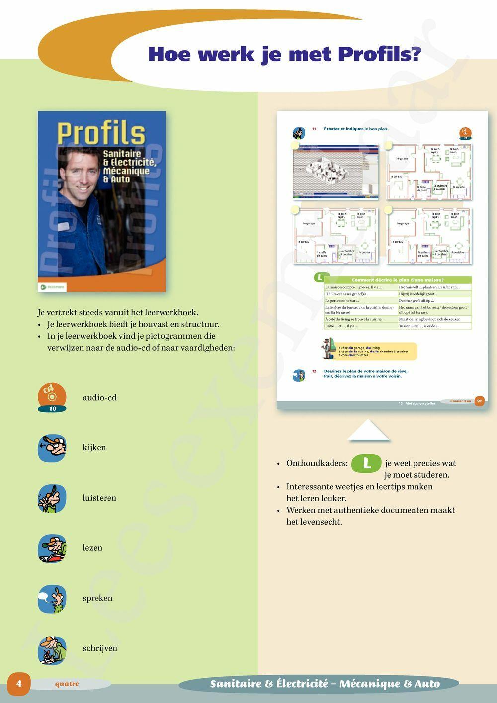 Preview: Profils Sanitaire & Electricité, Mécanique & Auto Vaktaalleerwerkboek