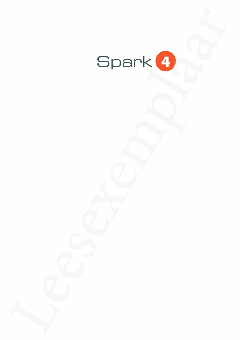 Preview: Spark 4 Leerwerkboek