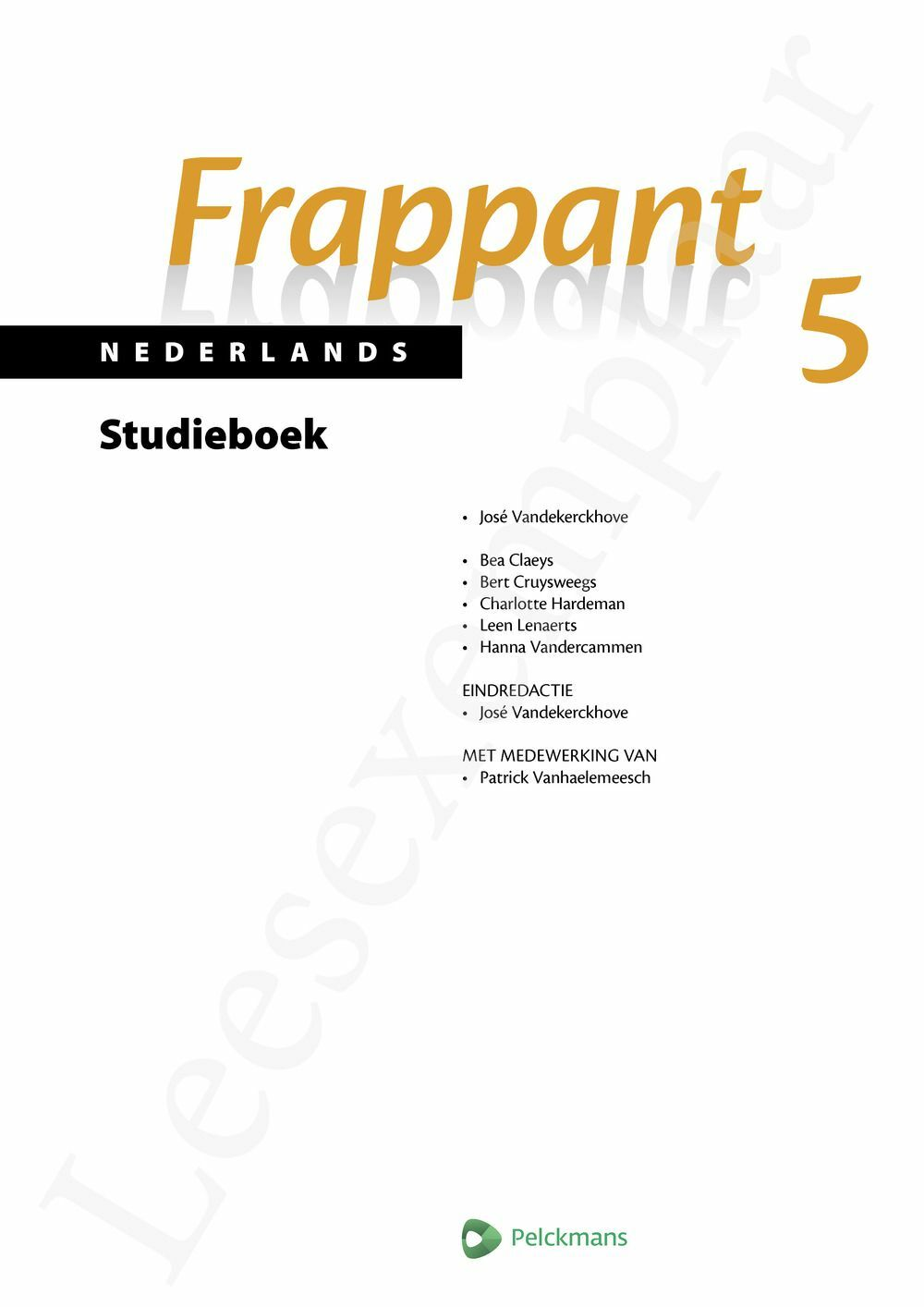 Preview: Frappant Nederlands 5 aso studieboek