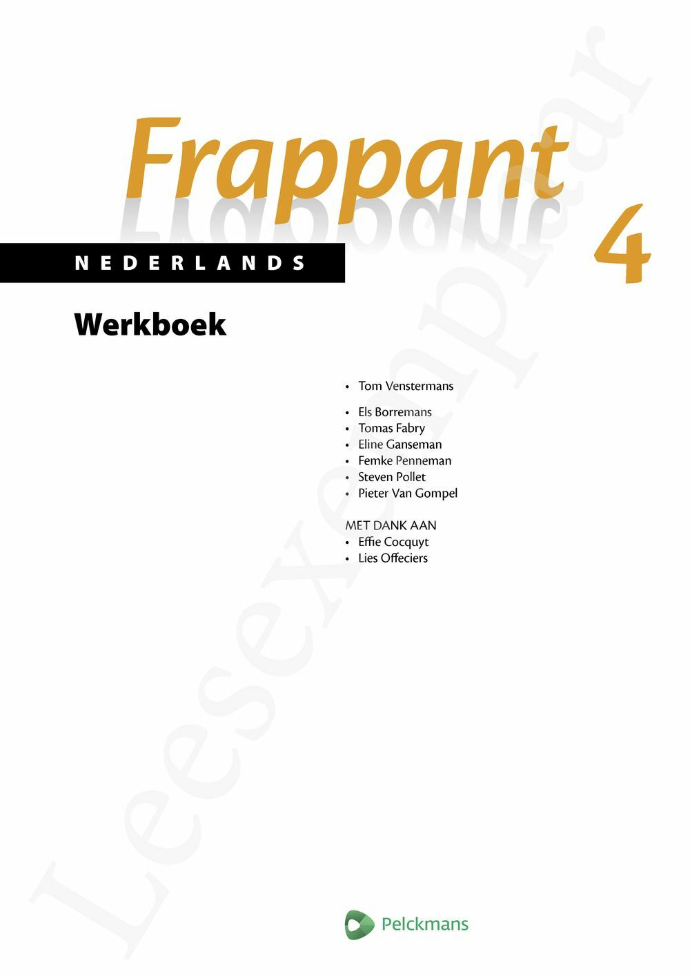Preview: Frappant Nederlands 4 aso Werkboek