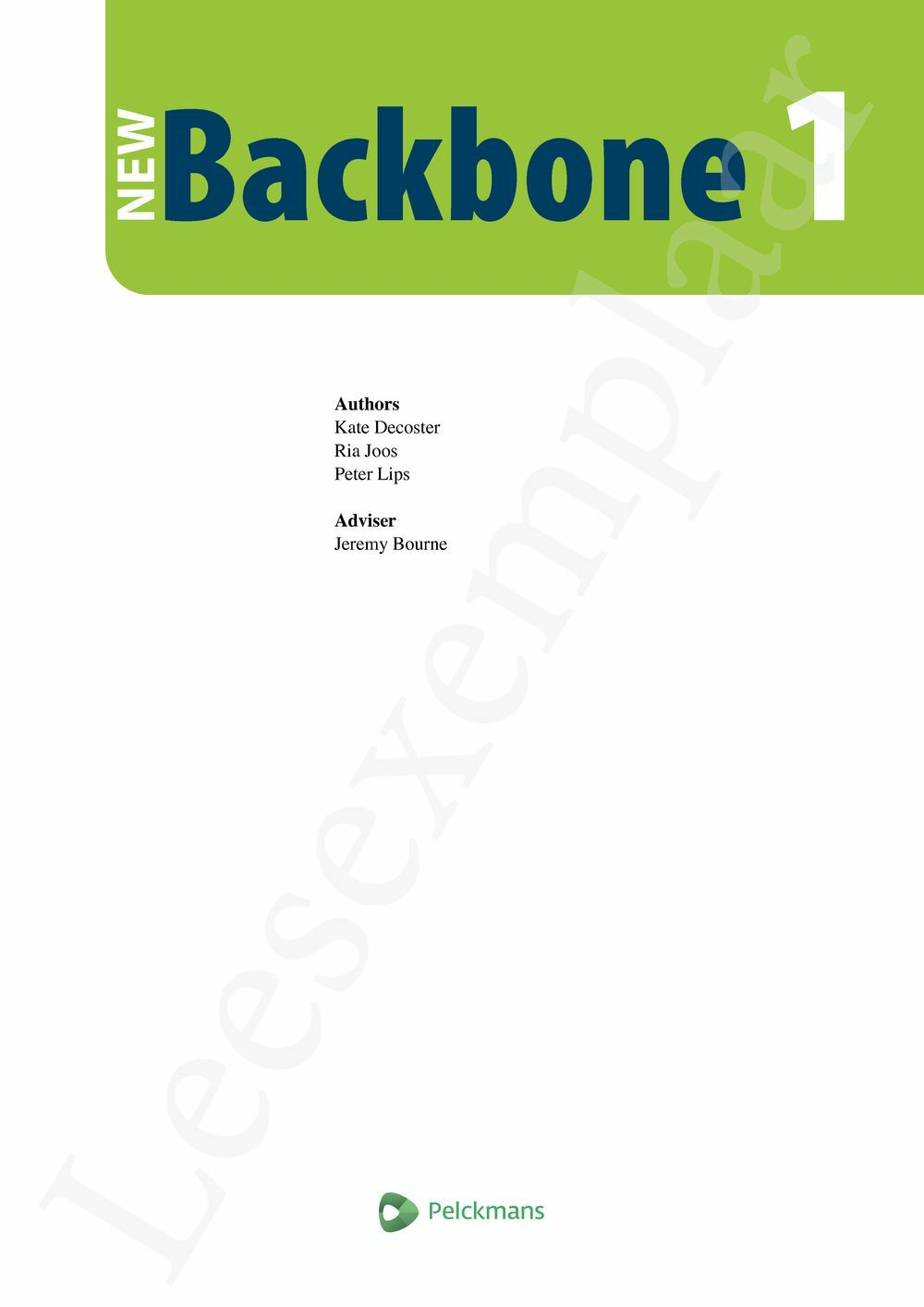 Preview: New Backbone 1 Leerwerkboek