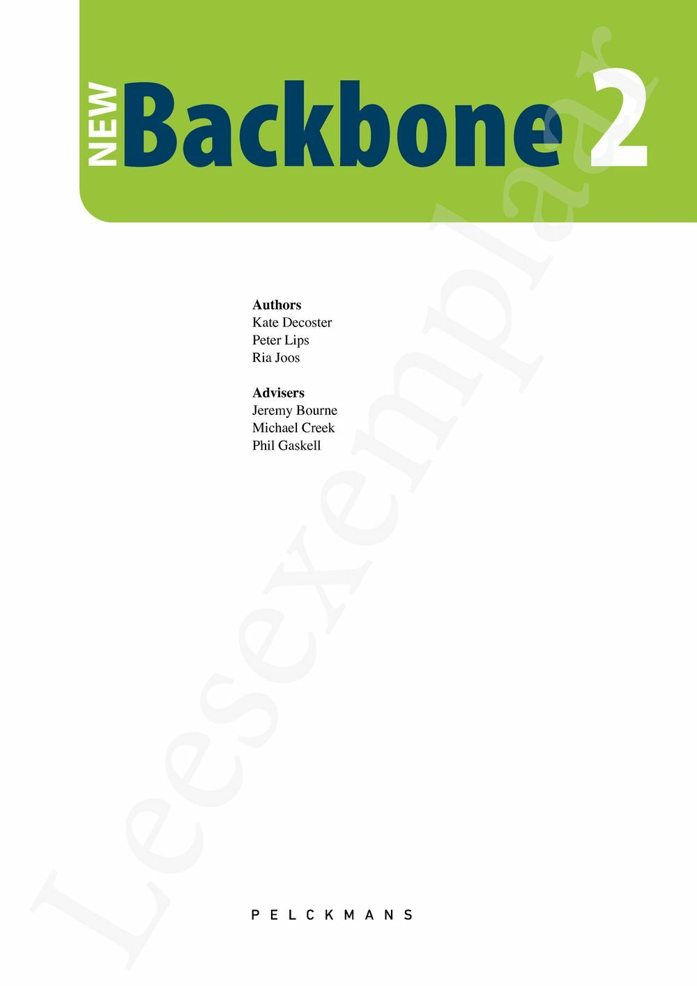 Preview: New Backbone 2 Leerwerkboek