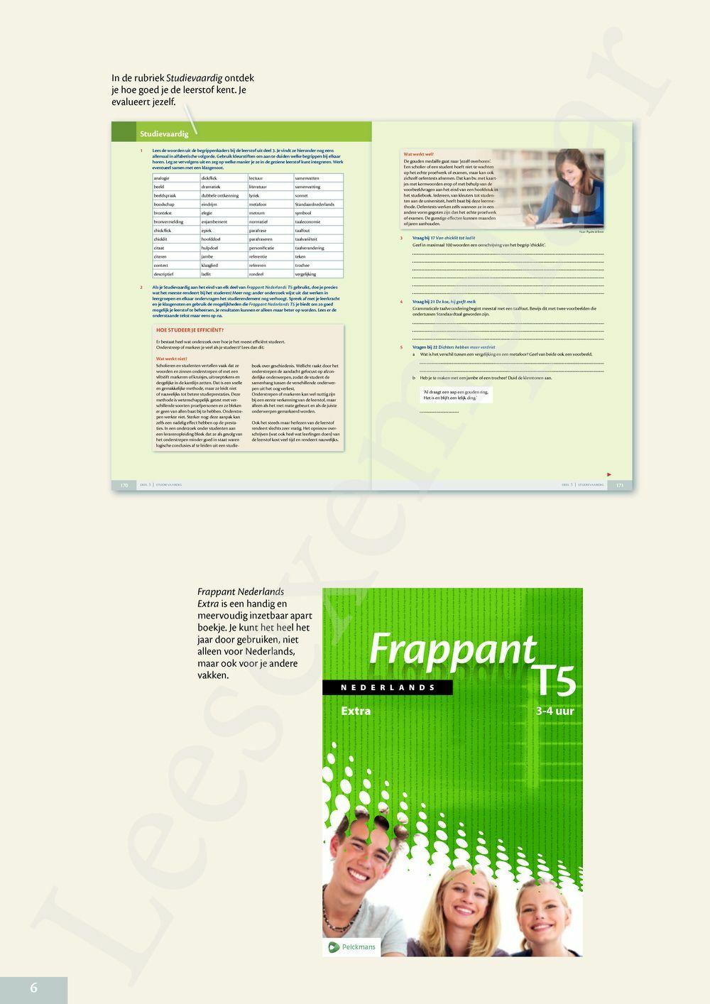 Preview: Frappant Nederlands T5 Leerwerkboek 3/4-uur