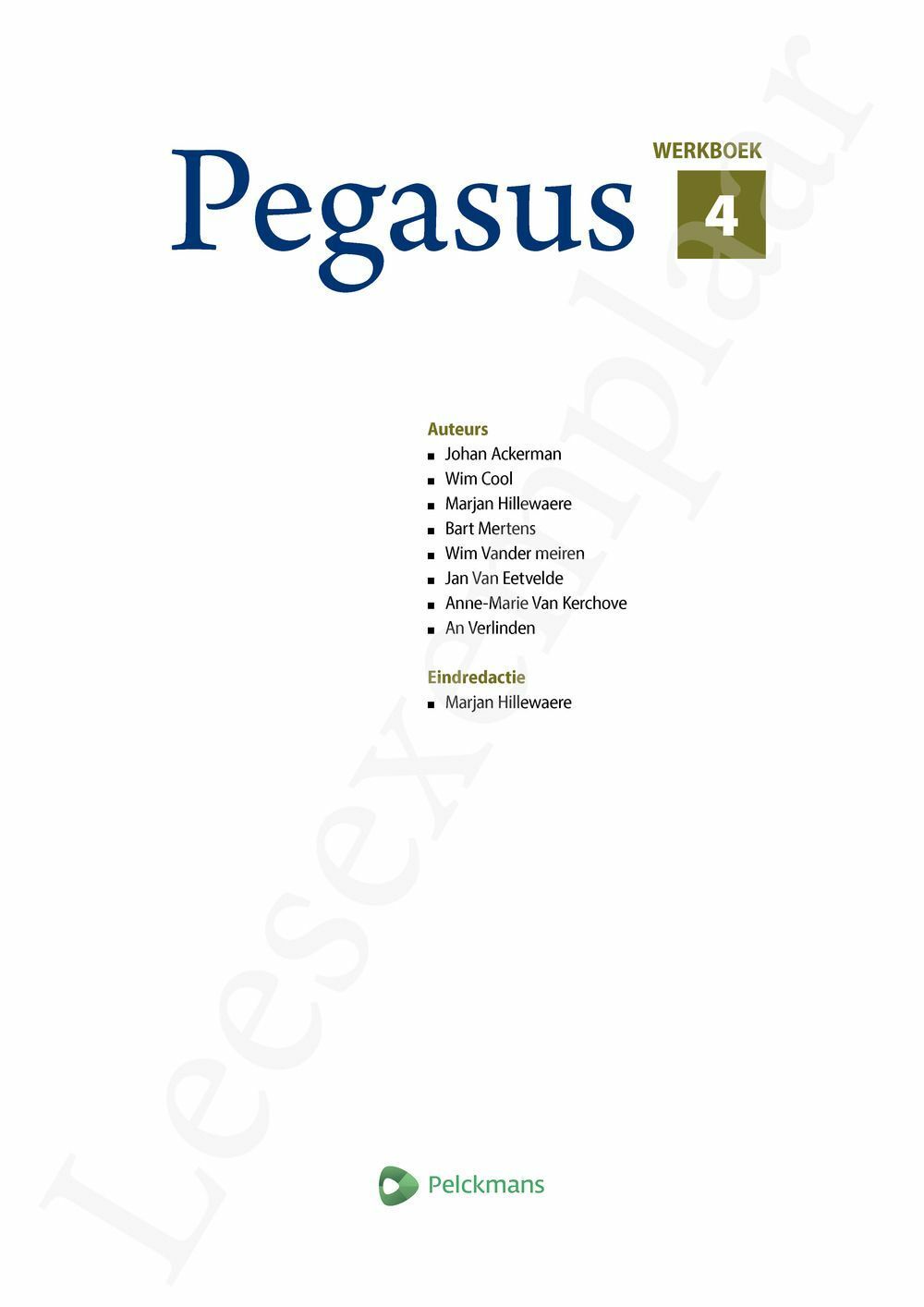 Preview: Pegasus 4 werkboek