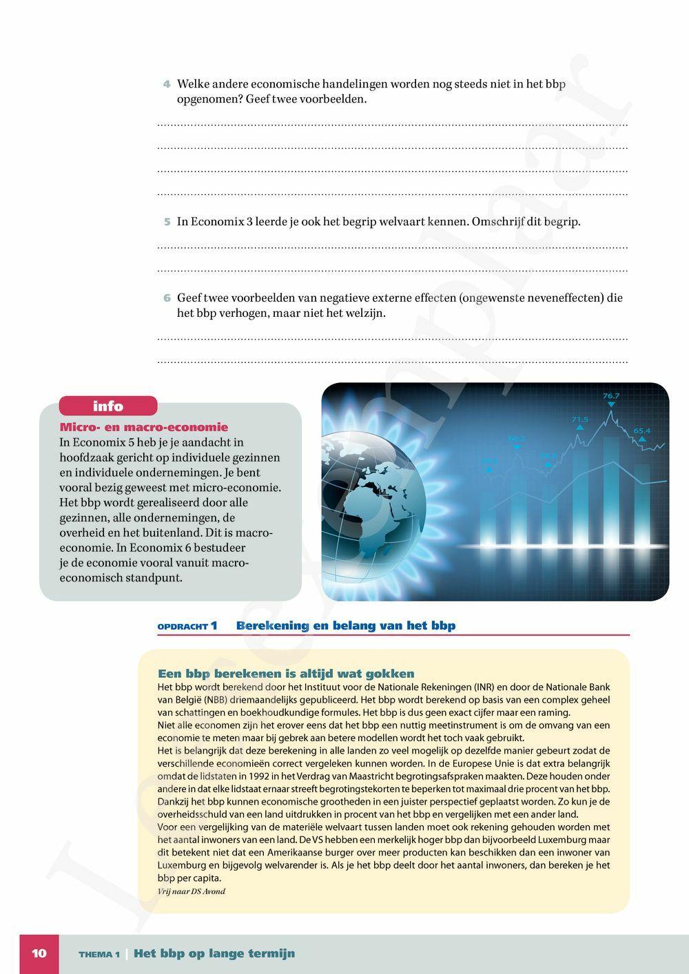 Preview: Economix 6 Algemene economie leerwerkboek