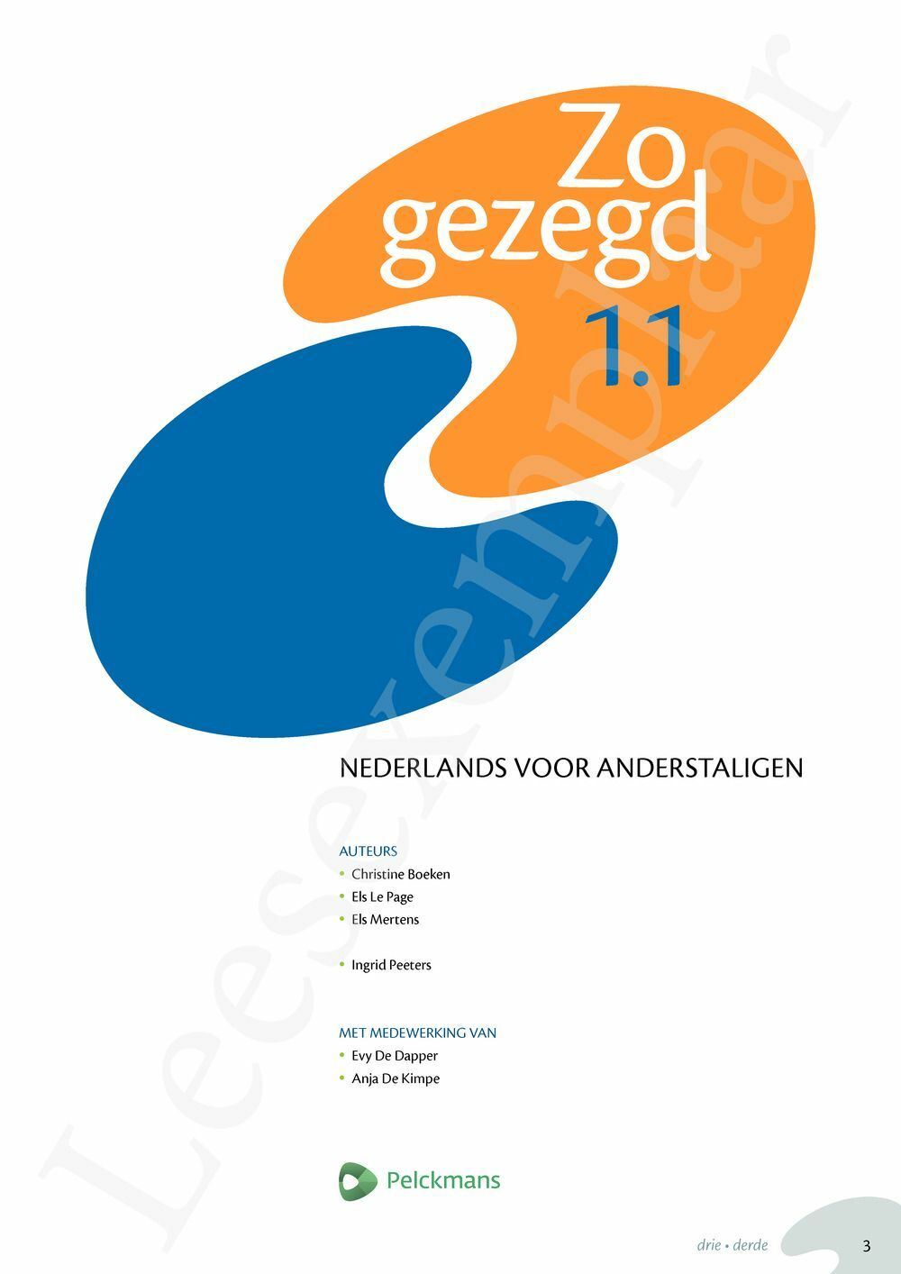 Preview: Zo gezegd 1.1 Breakthrough Leerwerkboek (incl. audio-cd voor de cursist)