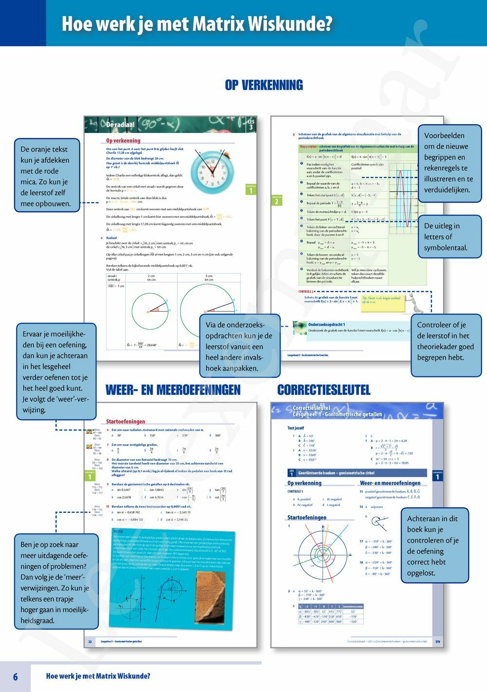 Preview: Matrix Wiskunde 5/6 goniometrische functies 3 & 4 uur wiskunde tekstboek (inclusief uitgebreide online correctiesleutel)