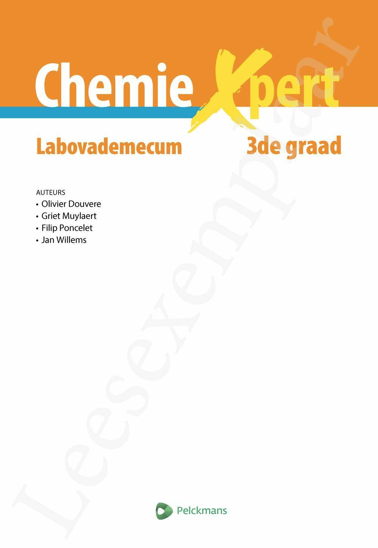 Preview: Chemie Xpert Labovademecum 3de graad