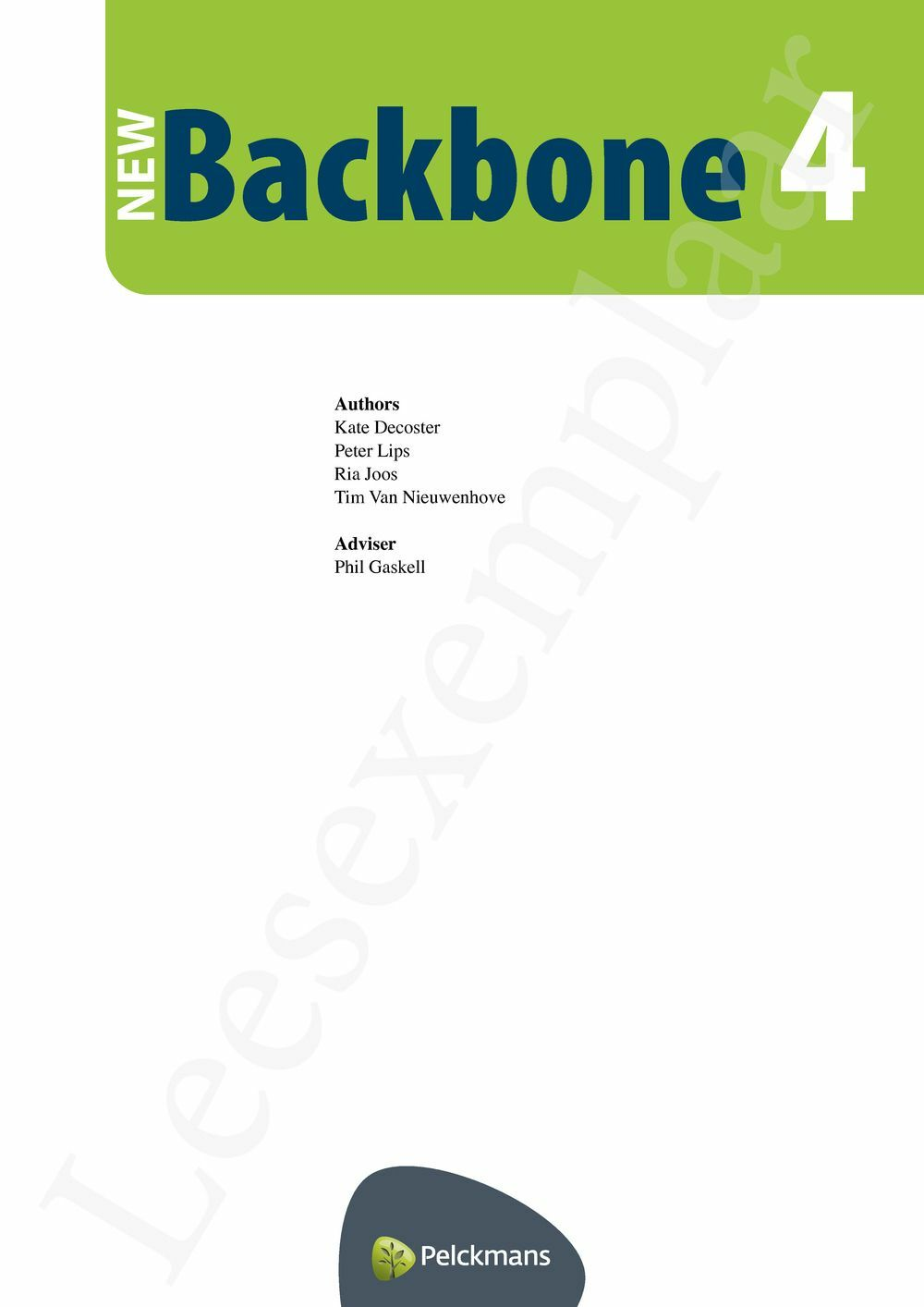 Preview: New Backbone 4 leerwerkboek
