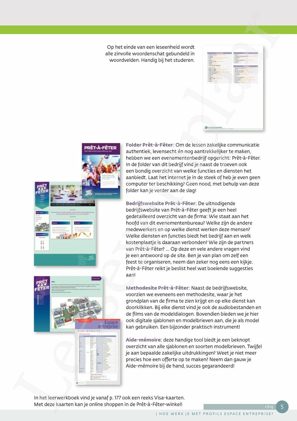 Preview: Profils Espace entreprise leerwerkboek