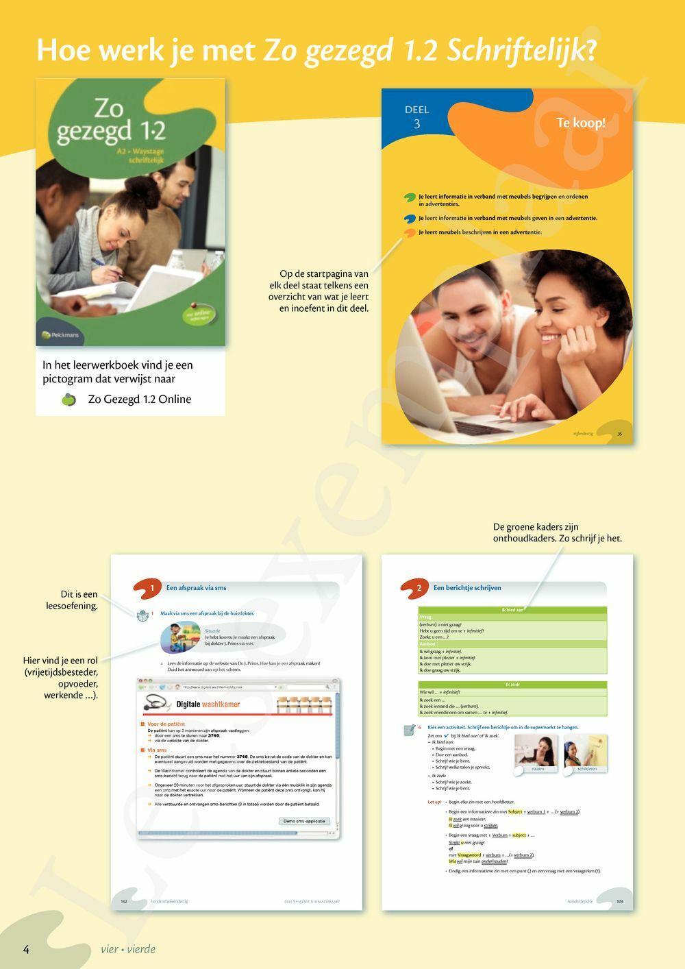 Preview: Zo gezegd 1.2 Waystage schriftelijk: Leerwerkboek