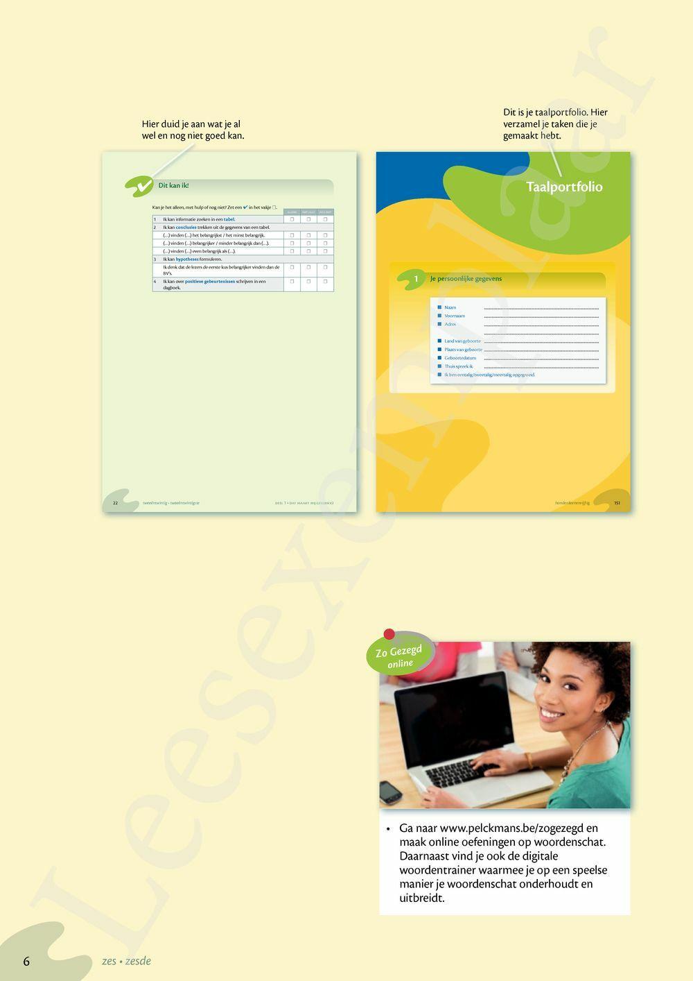 Preview: Zo gezegd 2.1 Threshold 1 schriftelijk persoonlijk Leerwerkboek