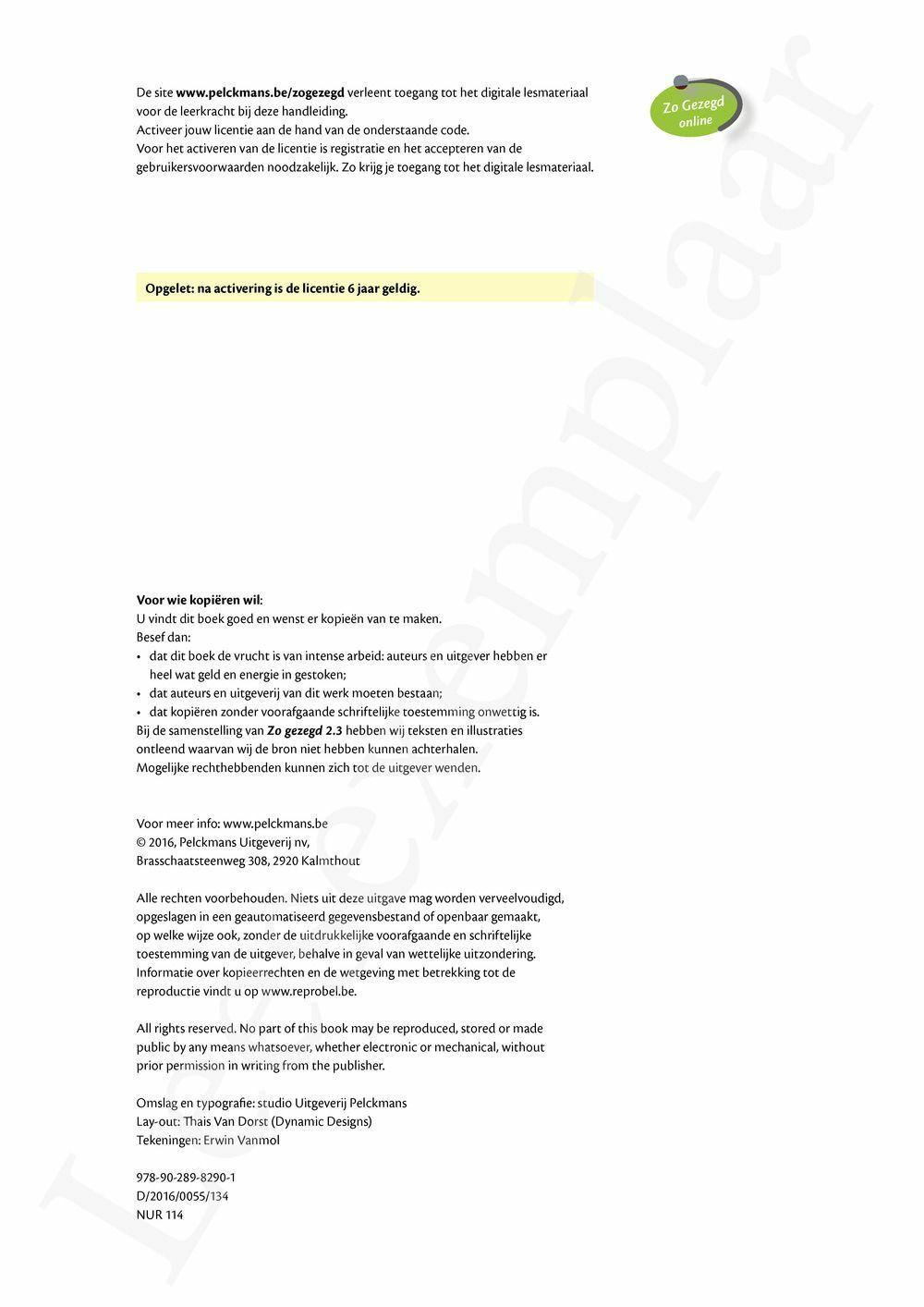 Preview: Zo gezegd 2.3 Threshold 3 schriftelijk persoonlijk: Handleiding