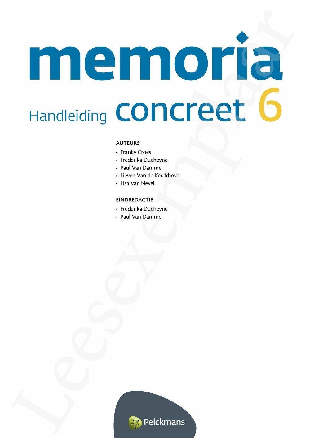 Preview: Memoria concreet 6 handleiding