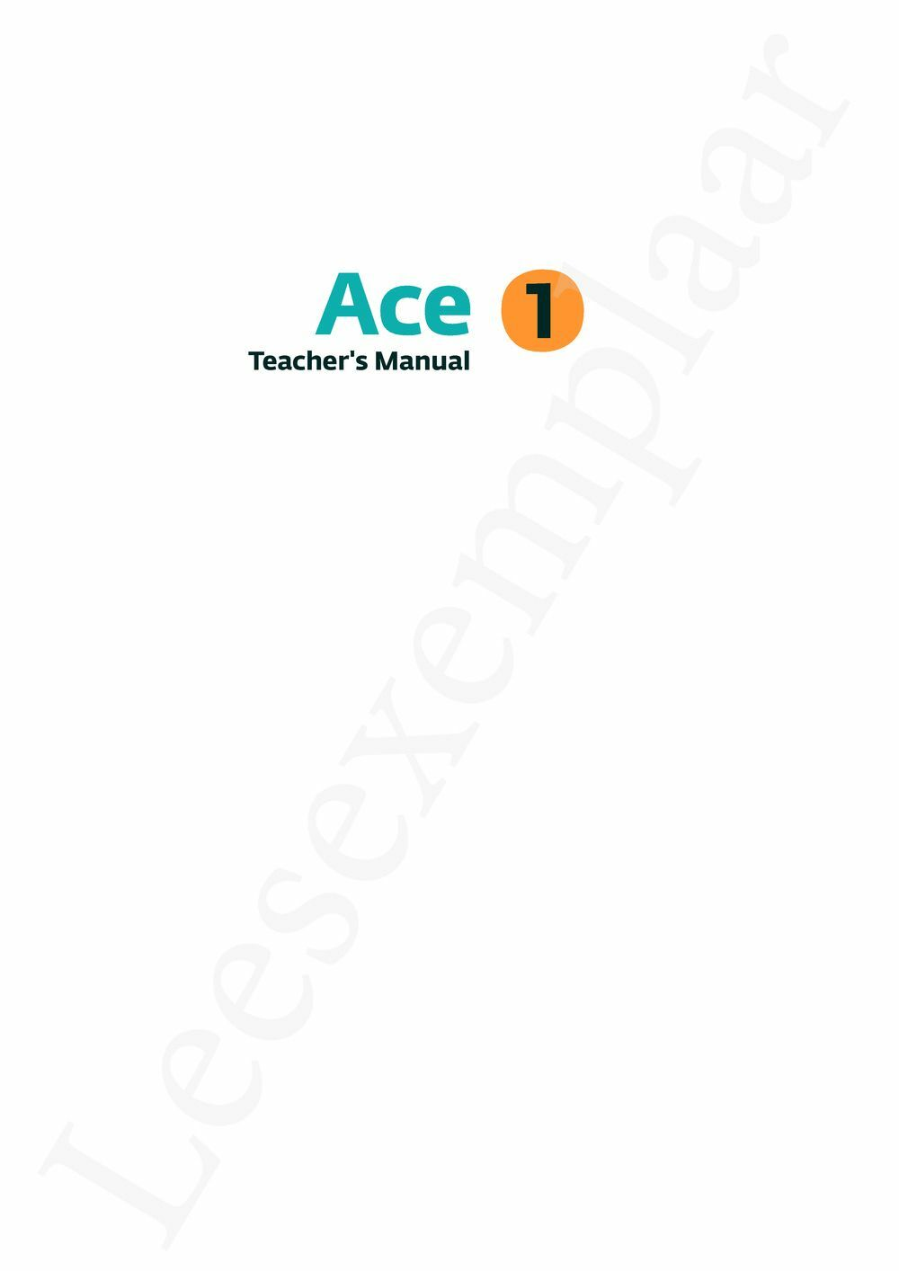 Preview: Ace 1 Teacher's Manual