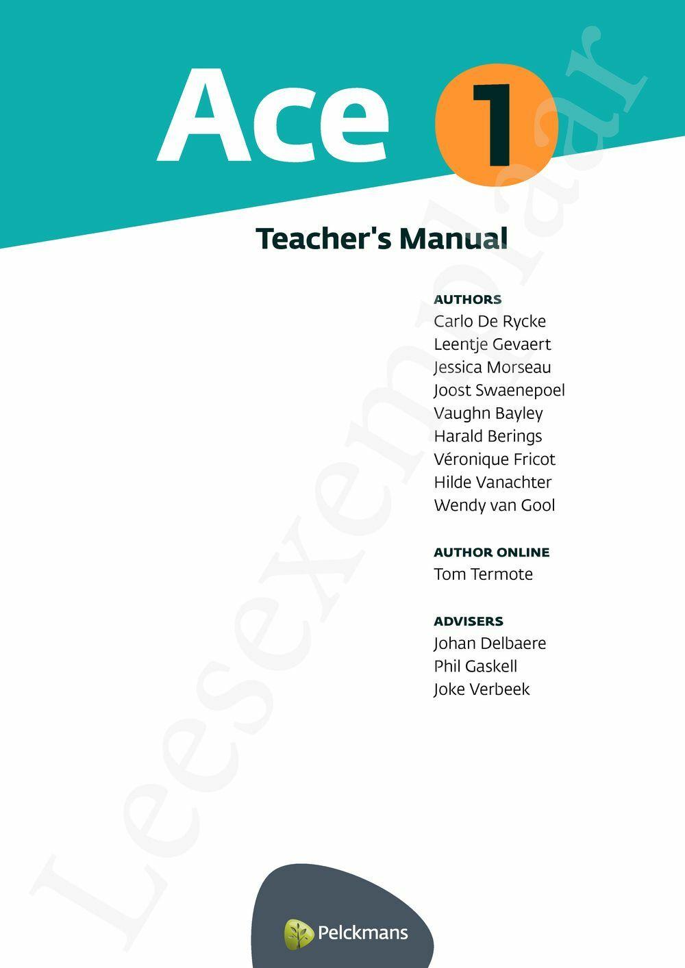 Preview: Ace 1 Teacher's Manual
