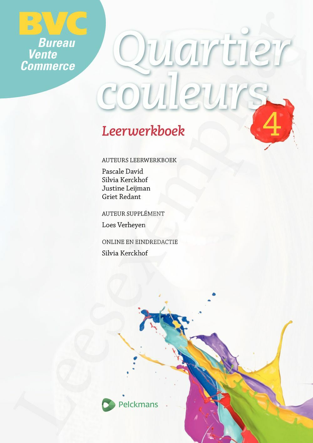 Preview: Quartier couleurs 4 BVC leerwerkboek