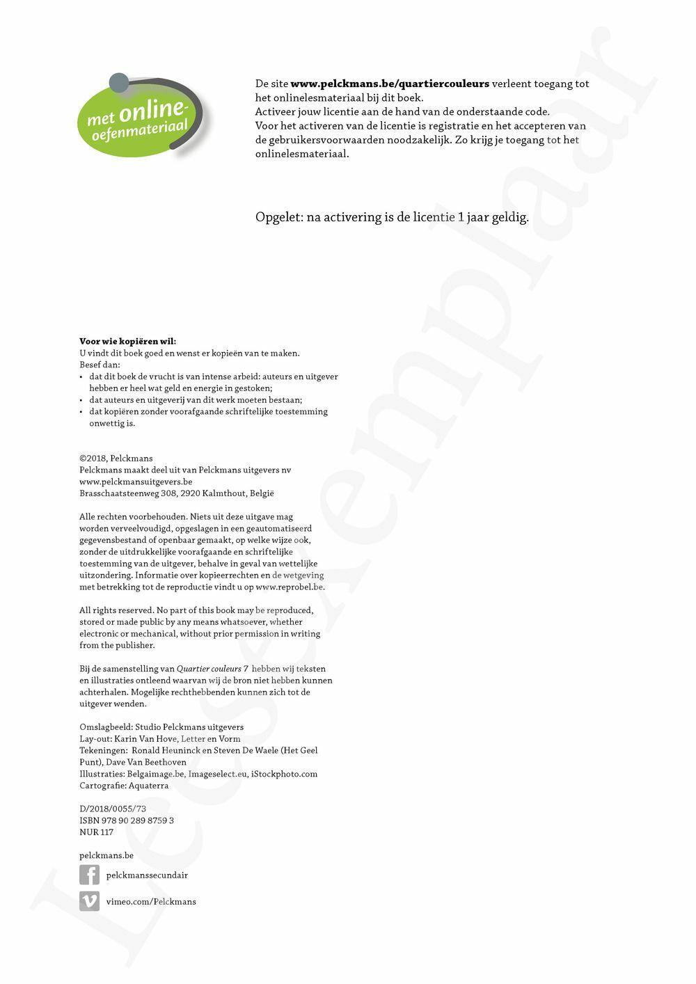 Preview: Quartier couleurs 7 leerwerkboek