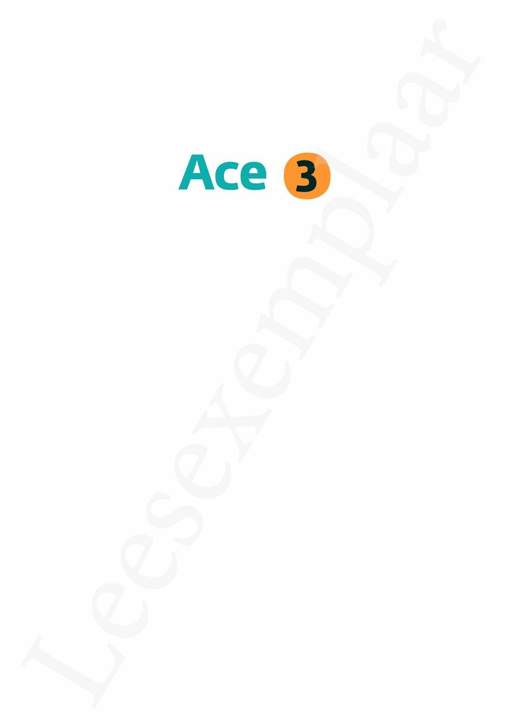 Preview: Ace 3 leerwerkboek