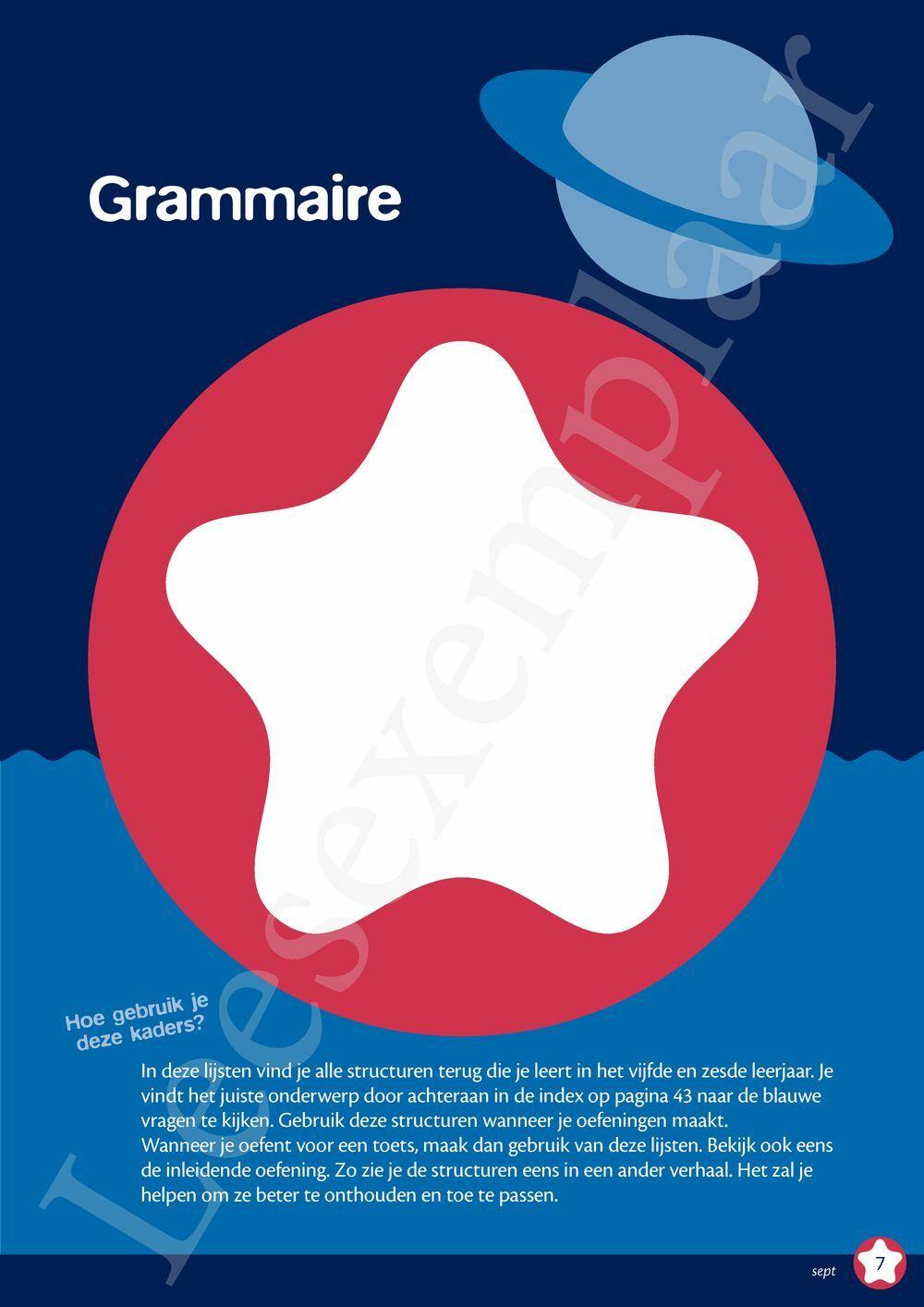 Preview: Quartier étoile grammaire - lexique