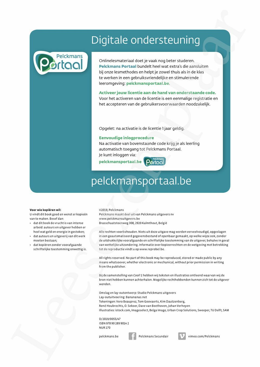 Preview: Cool! 1 leerwerkboek (editie 2019) (inclusief infokatern Techniek en Pelckmans Portaal)