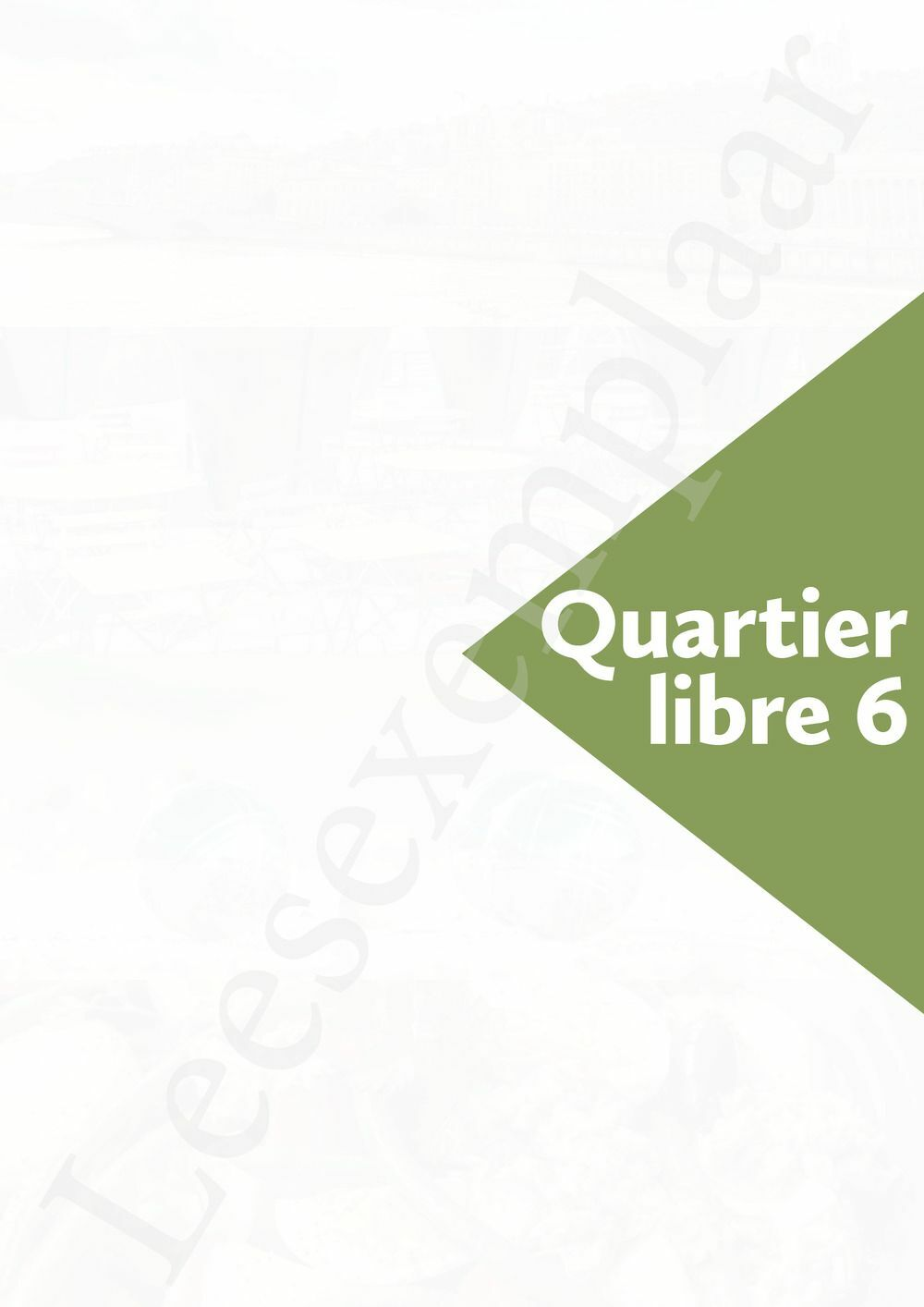 Preview: Quartier libre 6 Livre de l'élève (inclusief Pelckmans Portaal)