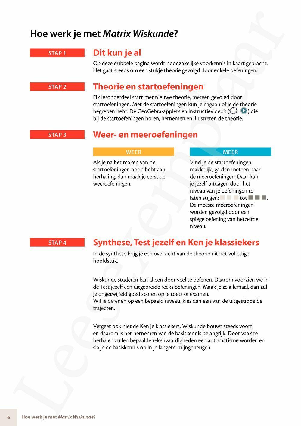 Preview: Matrix Wiskunde 3.3 Leerwerkboek A Getallen - Algebra - Verbanden (inclusief Pelckmans Portaal)