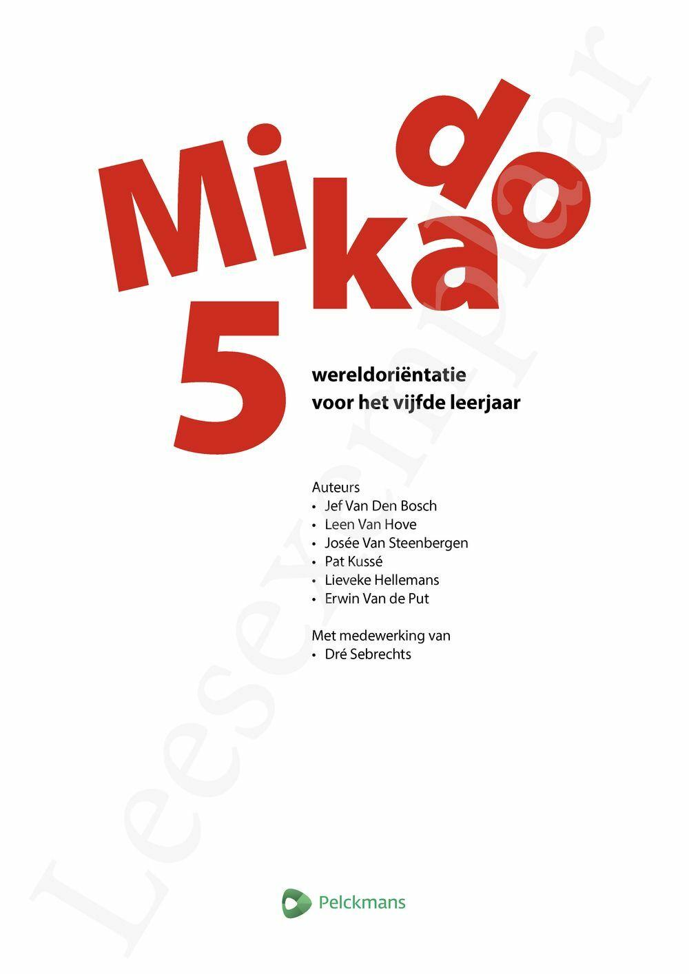 Preview: Mikado 5 Leerwerkboek Wereldoriëntatie incl. onlineoefenmateriaal (editie 2018)