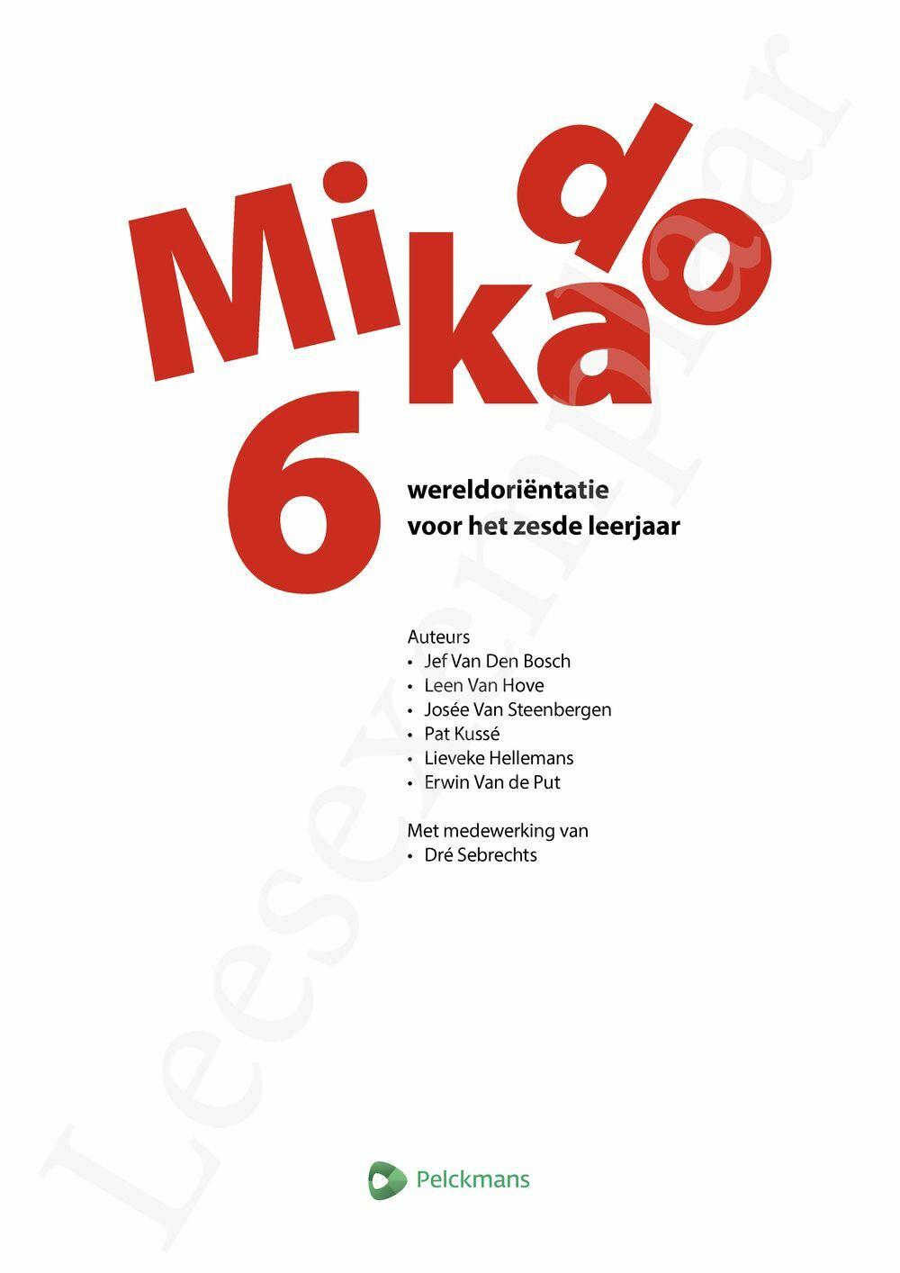 Preview: Mikado 6 Leerwerkboek Wereldoriëntatie incl. onlineoefenmateriaal (editie 2018)