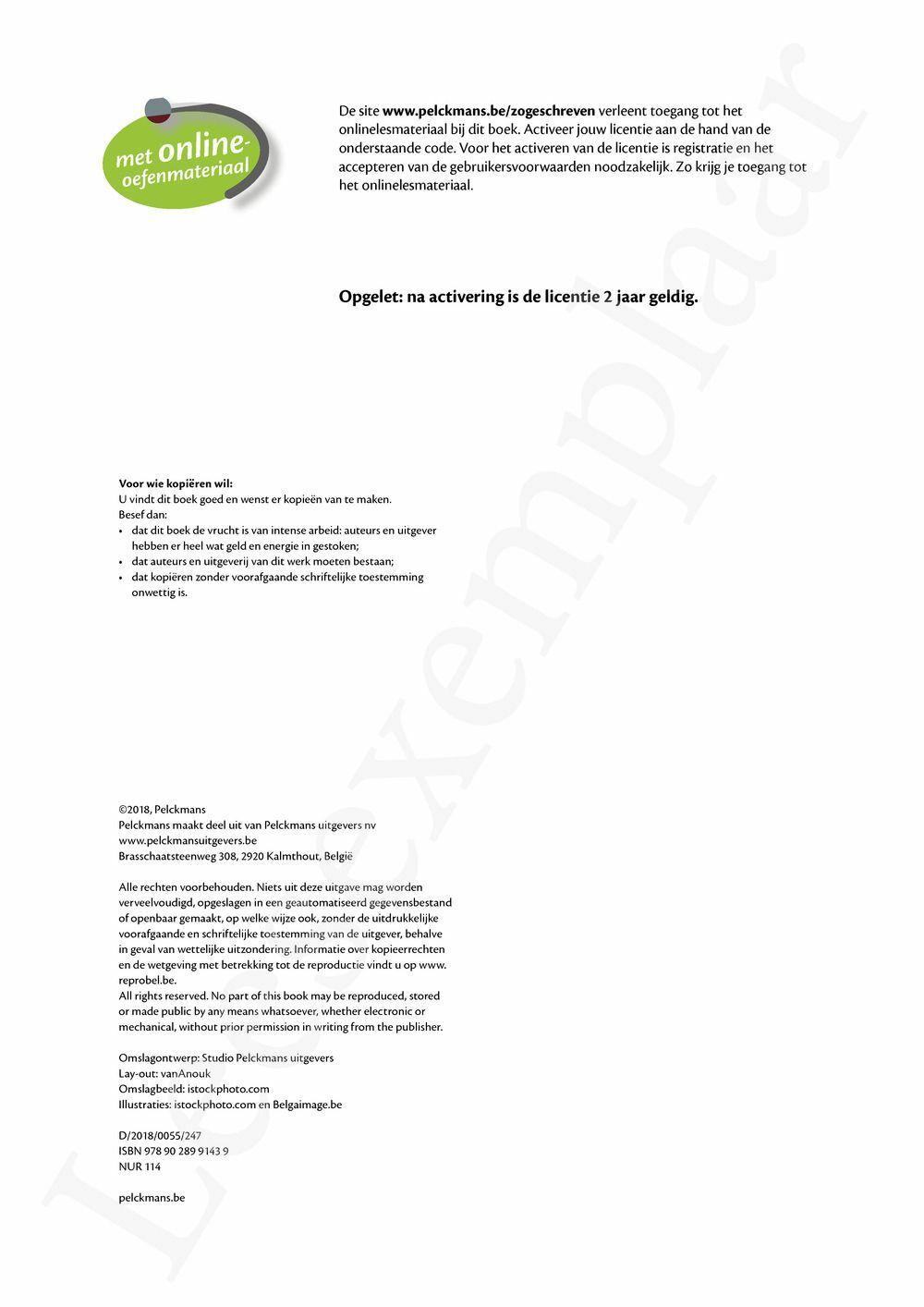 Preview: Zo geschreven 2 Leerwerkboek (herwerking 2018)