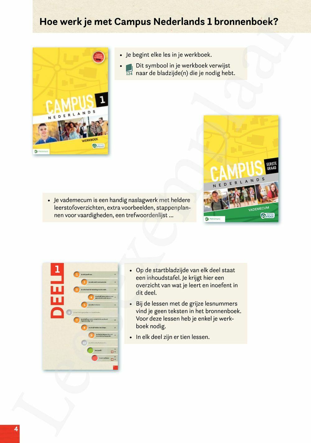 Preview: Campus Nederlands 1 bronnenboek (inclusief Pelckmans Portaal)