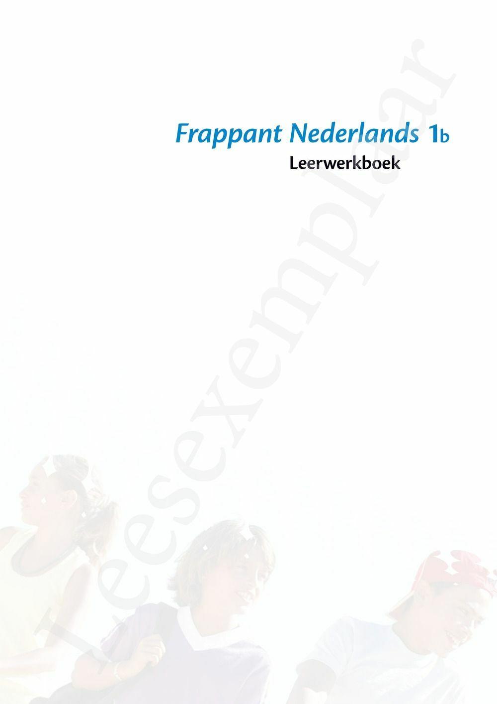 Preview: Frappant Nederlands 1b leerwerkboek (editie 2019) (inclusief Pelckmans Portaal)