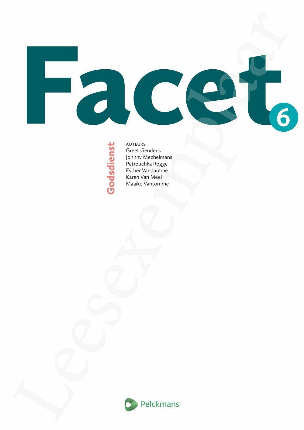 Preview: Facet 6 leerwerkboek (actualisatie leerplan) (inclusief Pelckmans Portaal)