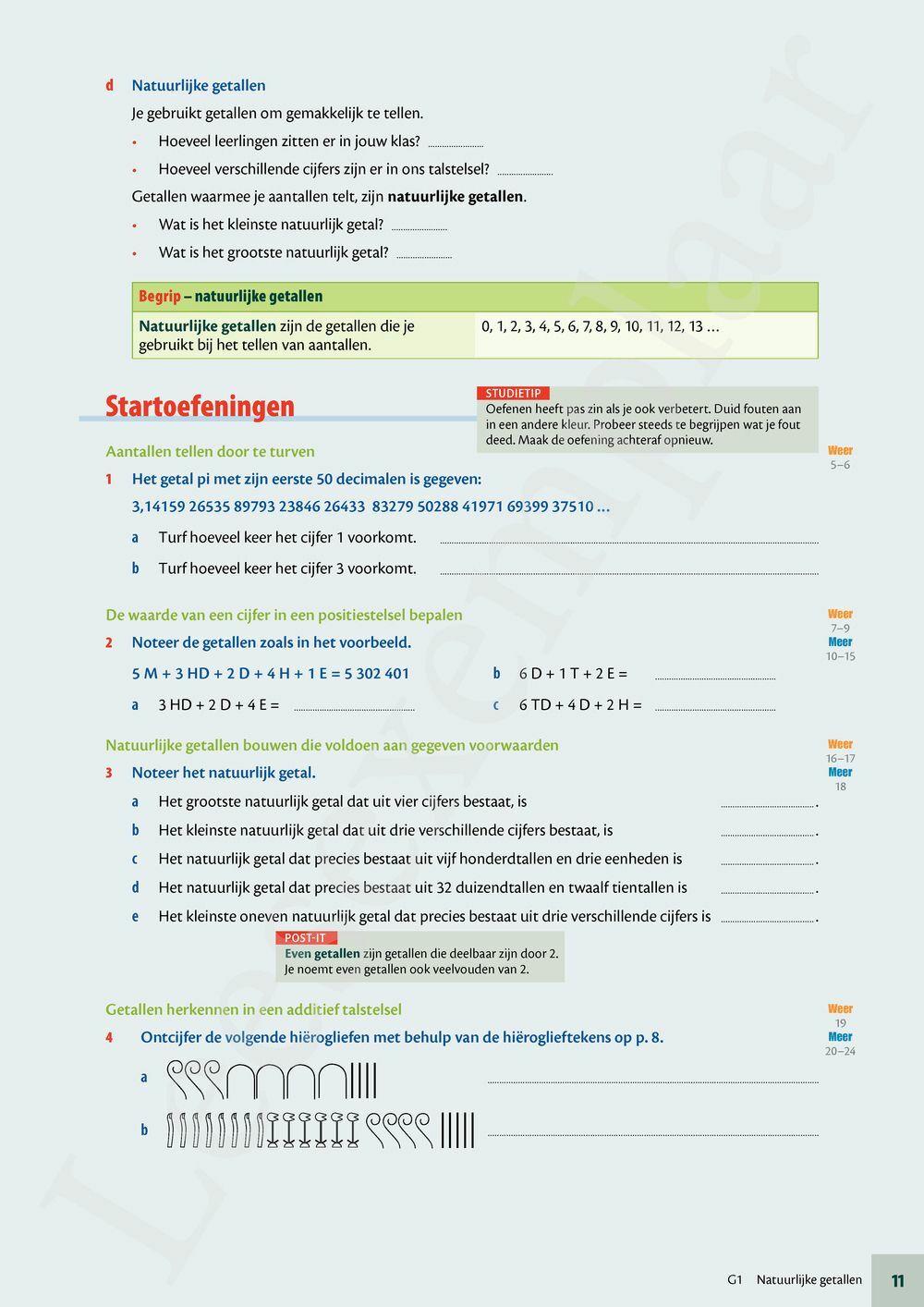Preview: Matrix Wiskunde 1 getallenleer leerwerkboek (inclusief vademecum en Pelckmans Portaal)