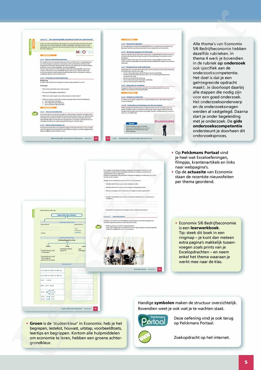 Preview: Economix 5/6 Bedrijfseconomie Leerwerkboek (inclusief Pelckmans Portaal)
