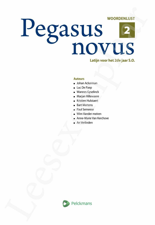 Preview: Pegasus novus 2 woordenlijst