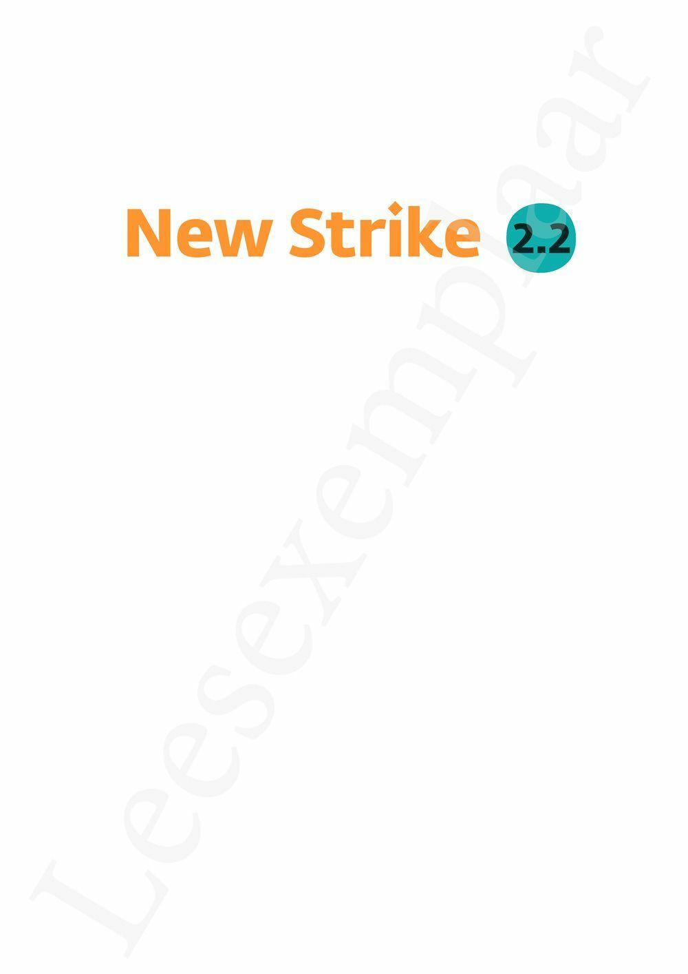 Preview: New Strike 2.2 leerwerkboek (inclusief Pelckmans Portaal)