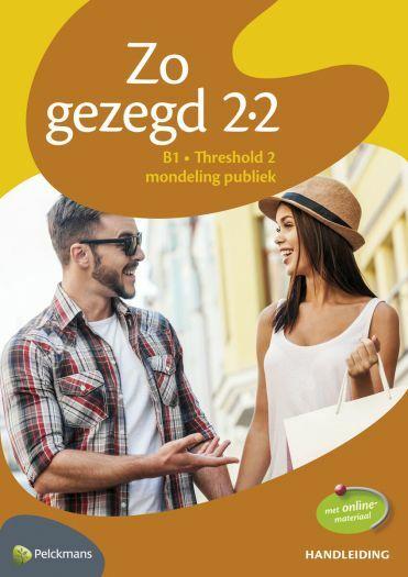 Zo gezegd 2.2 Threshold 2 mondeling publiek: Handleiding