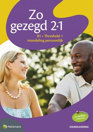Zo gezegd 2.1 Threshold 1 mondeling persoonlijk: Handleiding