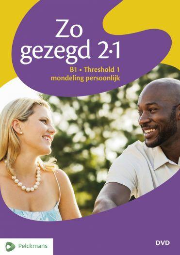 Zo gezegd 2.1 Threshold 1 mondeling persoonlijk: Dvd