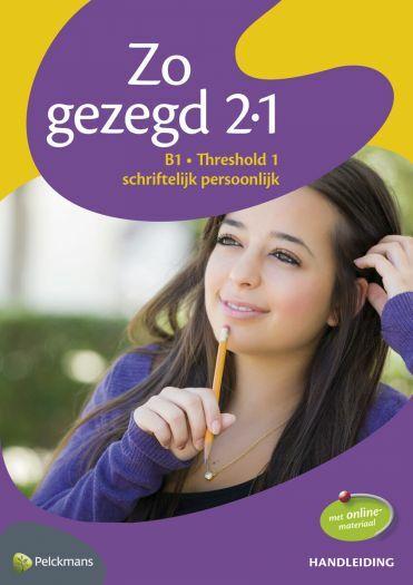Zo gezegd 2.1 Threshold 1 schriftelijk persoonlijk: Handleiding