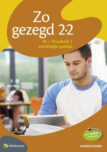 Zo gezegd 2.2 Threshold 2 schriftelijk publiek Handleiding