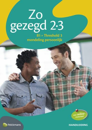 Zo gezegd 2.3 Threshold 3 mondeling persoonlijk: Handleiding