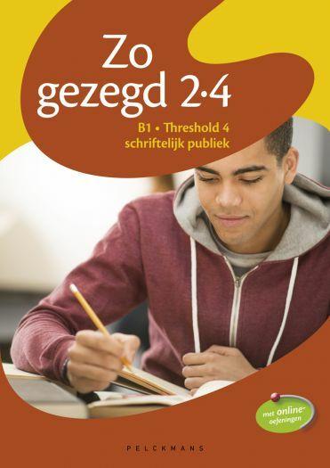 Zo gezegd 2.4 Threshold 4 schriftelijk publiek leerwerkboek
