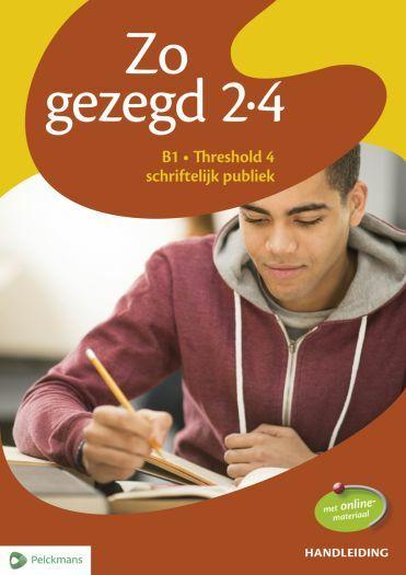 Zo gezegd 2.4 Threshold 4 schriftelijk publiek: Handleiding