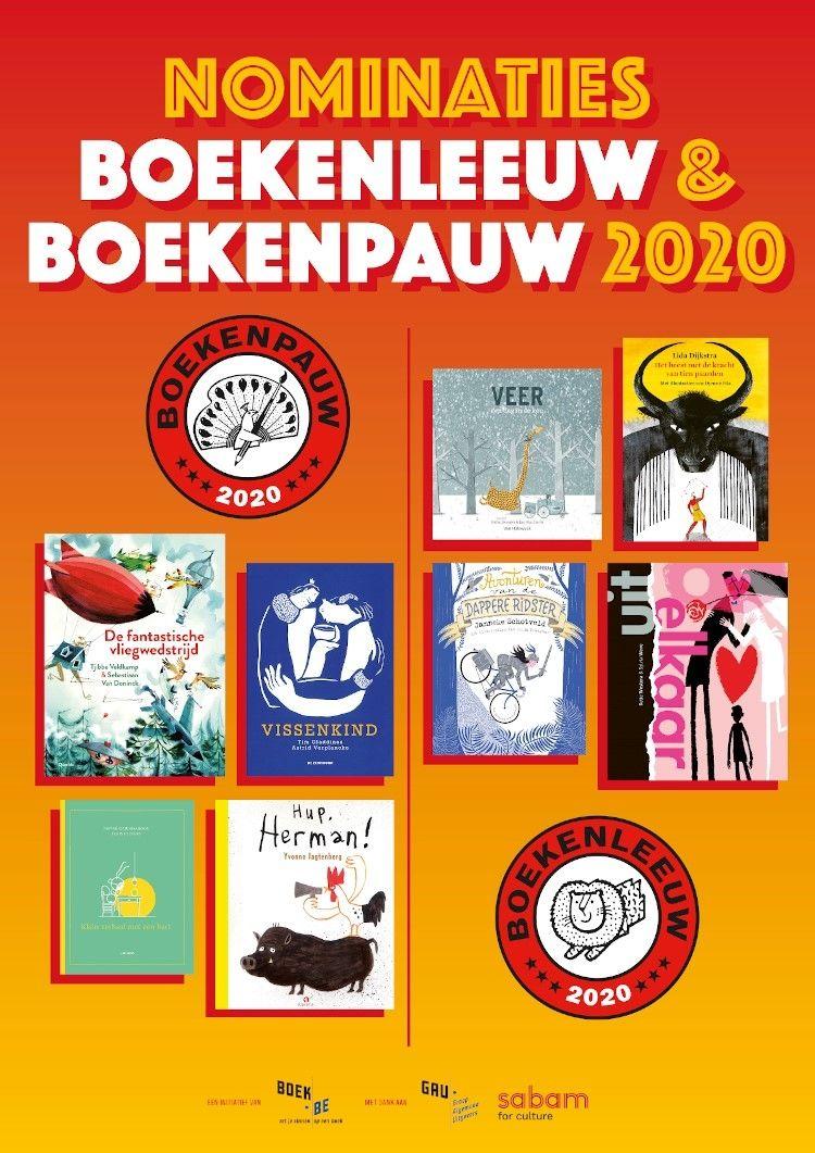 Nominaties Boekenleeuw en Boekenpauw 2020